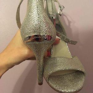 Michael Kors silver party heels